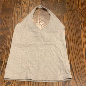 H & M women's heather gray halter top